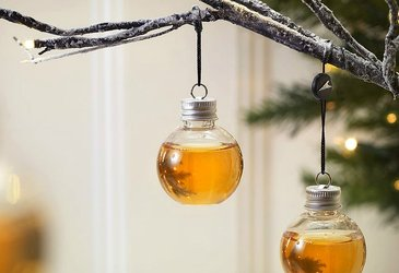 Whiskey Christmas Ornaments