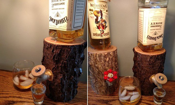 Liquor Log Dispenser