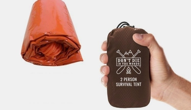 Beer-can Sized Emergency Tent