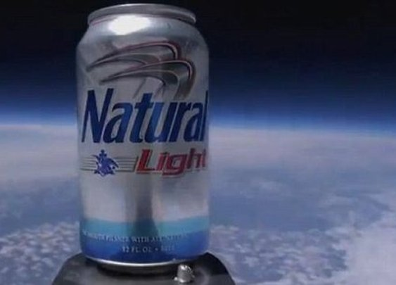 Natty Light launched into space
