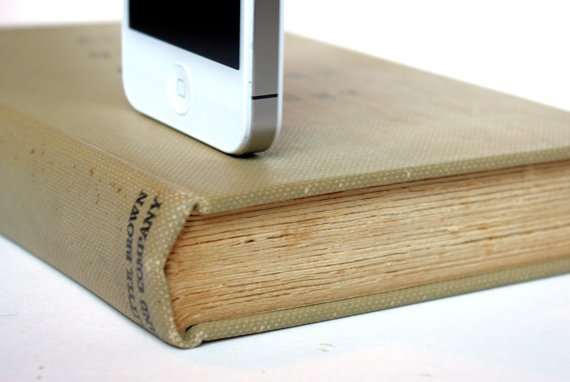 Manly book iPhone dock