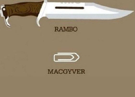 Rambo, MacGyver, Chuck Norris