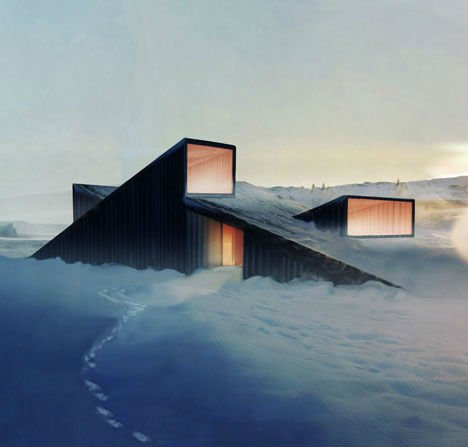 Norway cabin that doubles as a ski slope
