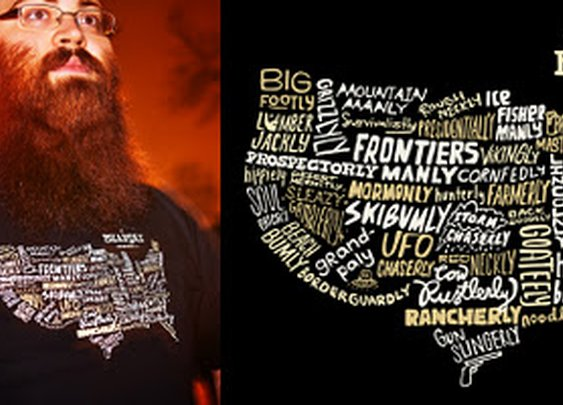 The United States of Beard Types T-Shirt