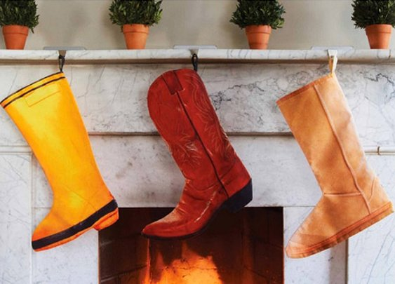 Christmas Cowboy Boot Stocking
