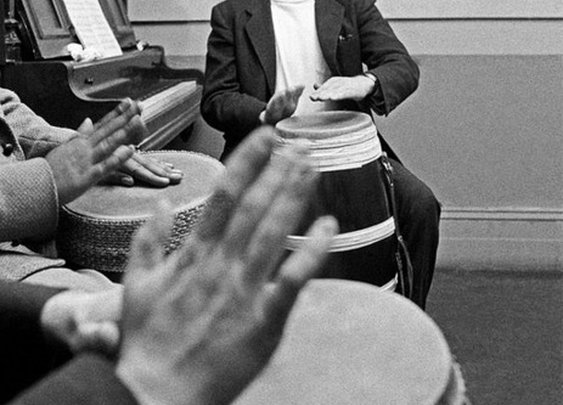 James Dean Playing Congas