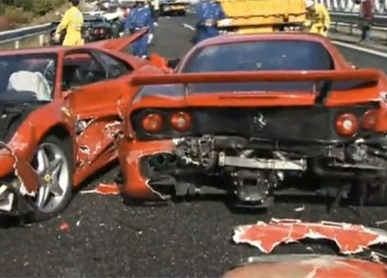 Japanese pileup claims eight Ferraris, a Lamborghini and three Benzes