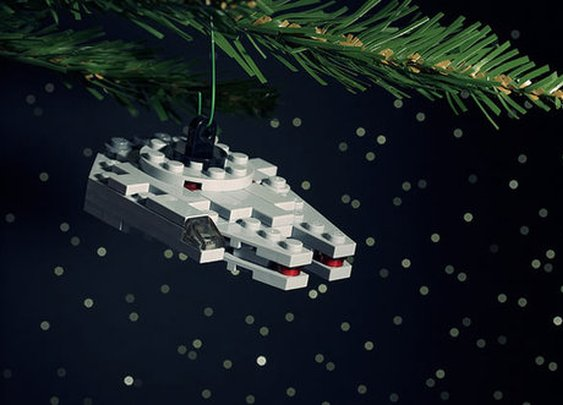 How to Make a LEGO Millenium Falcon Christmas Ornament