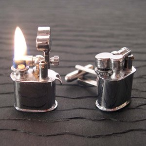 Vintage lighter cufflinks that work