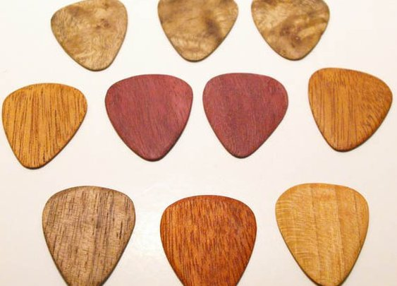 Awesome wooden guitar picks