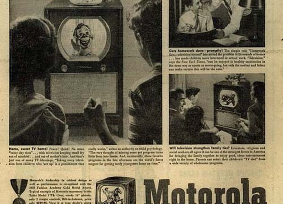 'How Television Benefits Your Children' ad from 1950