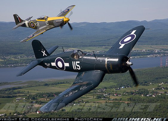 Corsair and Mustang