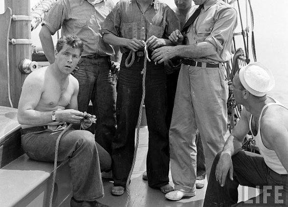 Sailors Tying Knots