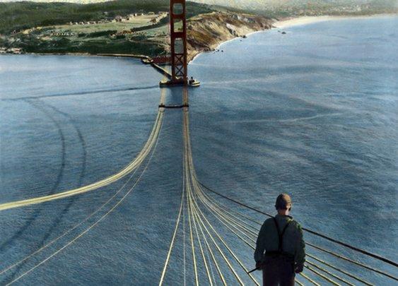 Constructing the Golden Gate Bridge 1933-1937