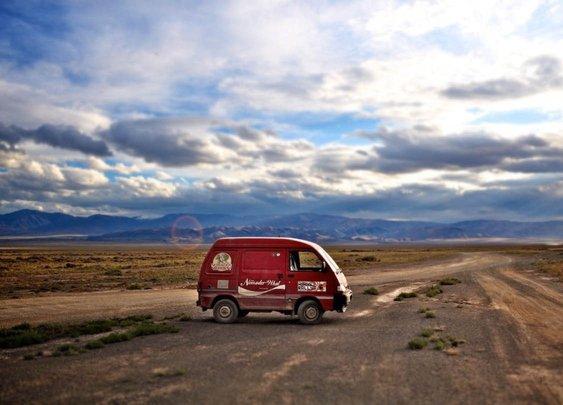 Drive like a man across Mongolia.