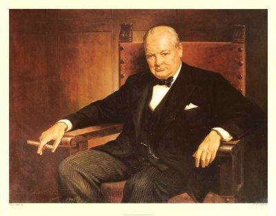 Churchill Smoking a Churchill