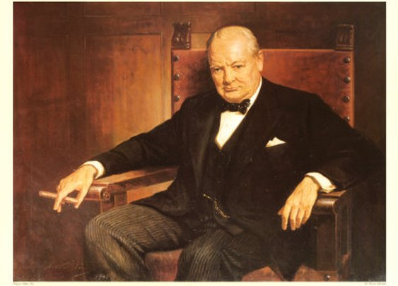 Churchill Smoking a Churchill