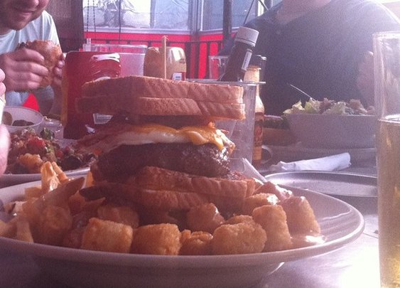 Vortex Bar & Grill - Triple Coronary Bypass Burger - Atlanta, GA