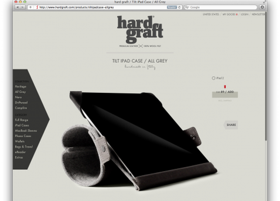 Hardgraft's bags and iPad cases had me stop in my tracks today.
