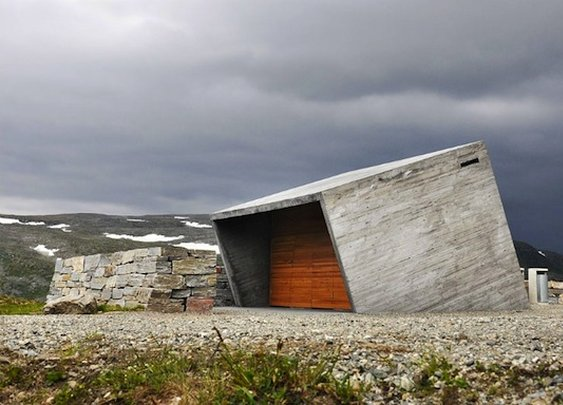 A beautiful rest stop lives in Norway, designed by Lars J burge