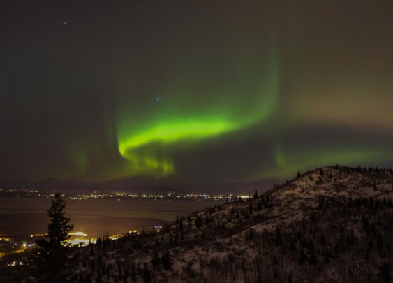 Solar Storm Ignites the Aurora Borealis - Alaska