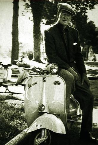 John Wayne On A Vespa