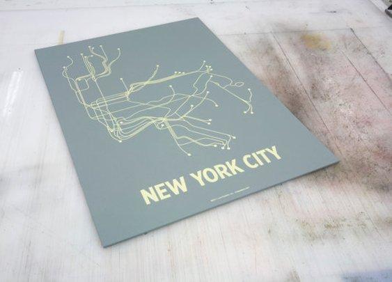 Minimalist NYC Transit Poster