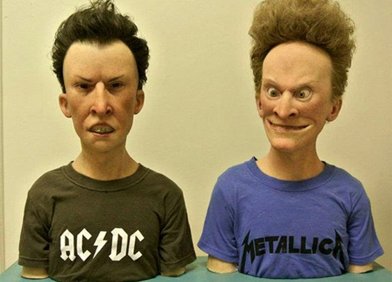 Terrifying: Ultra-Realistic Beavis & Butthead Busts