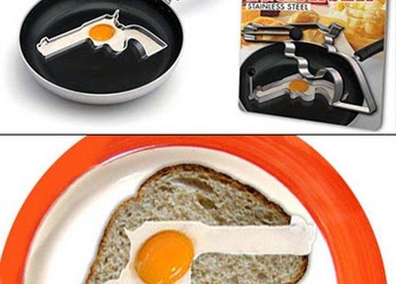 Gun egg fryer