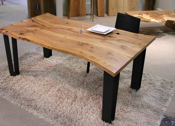Urban Hardwoods® Madrone dining table