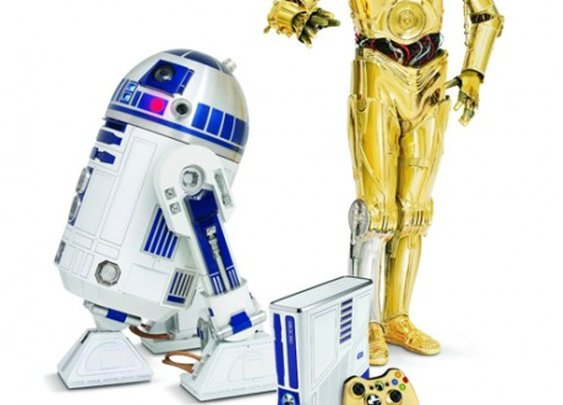 C-3PO and R2-D2 themed x-box
