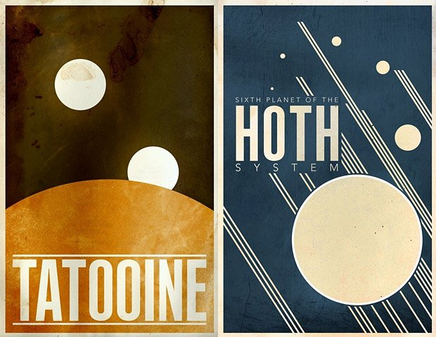 Minimalist Star Wars Planet Prints
