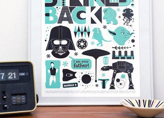 Retro Scandinavian Star Wars Posters