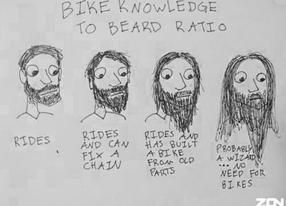 Bike to Beard ratio