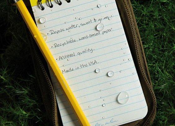 Waterproof Notebook ($6)