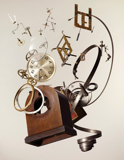 Apart Wind-Up Clock by Todd McLellan