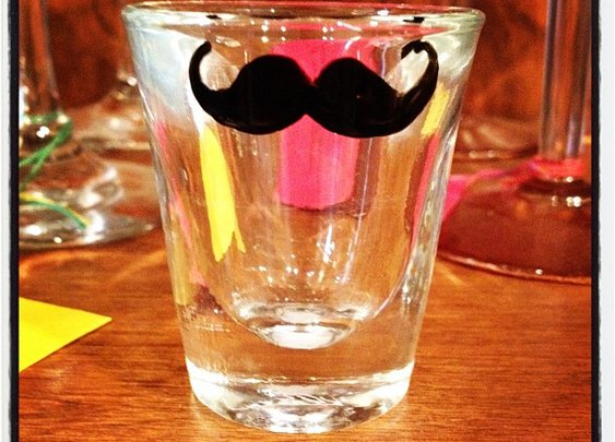 The manly shot glass!