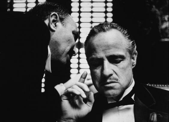 """Marlon Brando as Don Corleone in """"The Godfather"""""""