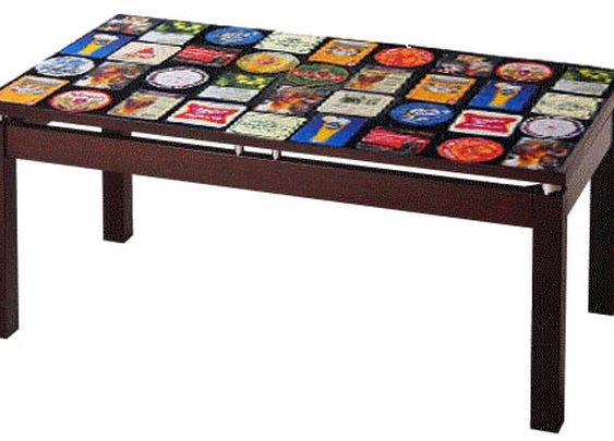 International Beer Coasters Table