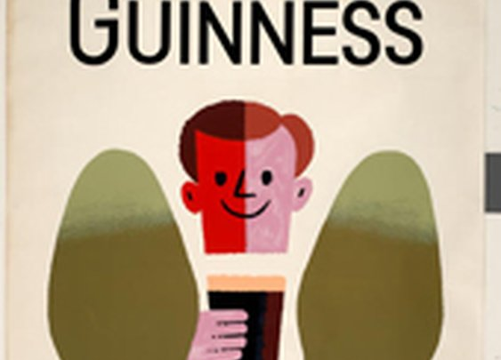 Tom Eckersley Collection: Guinness Ad