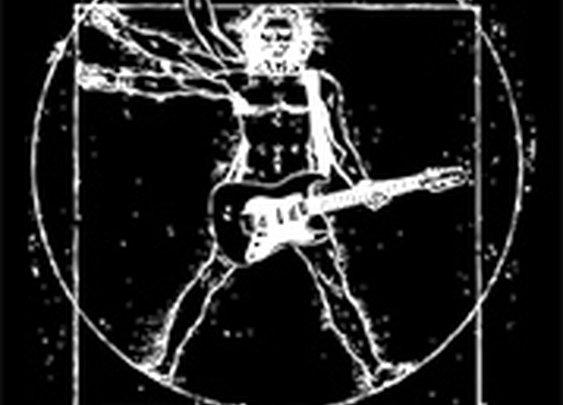Da Vinci Vitruvian Rock Man Guitar T-Shirt