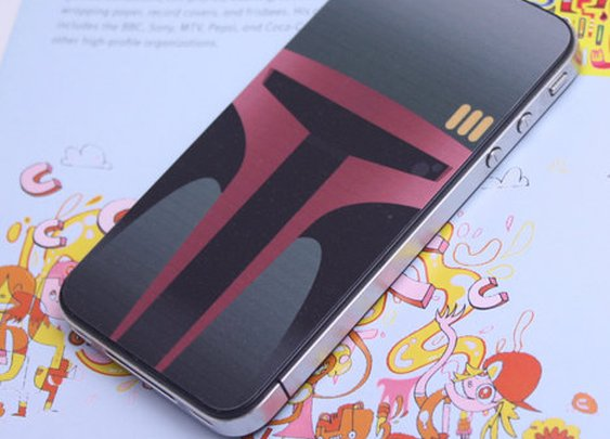 Intergalactic Bounty Hunter iPhone 4 Decal by killerduckdecals