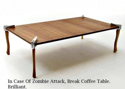 In case of zombie attack, break table