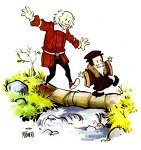 John Calvin and Thomas Hobbes by `spacecoyote on deviantART