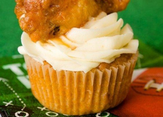 Buffalo Chicken Wing Cupcakes