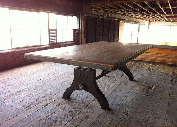 Vintage Industrial Hure Dining Table or Desk by VintageIndustrial