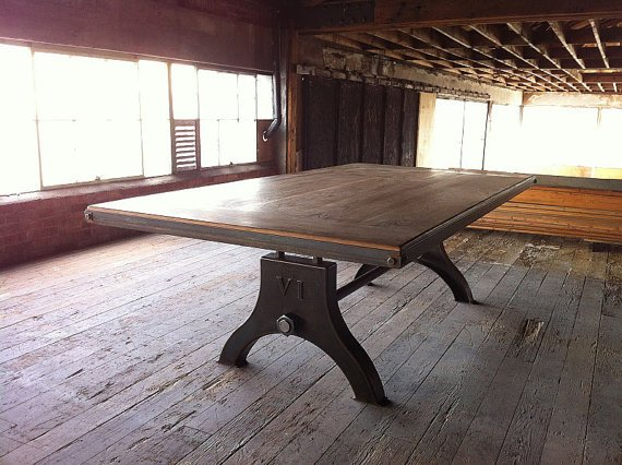 Vintage Industrial Hure Dining Table Or Desk By
