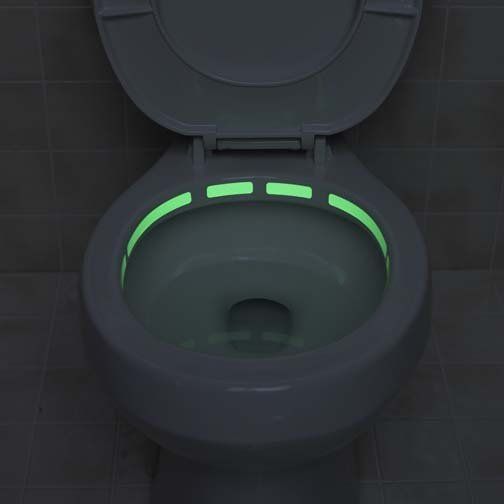 glow-in-the-dark toilet locater strip