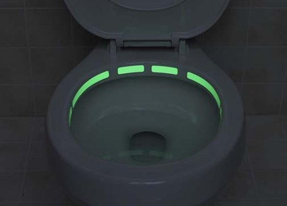 glow-in-the-dark toilet locater strip