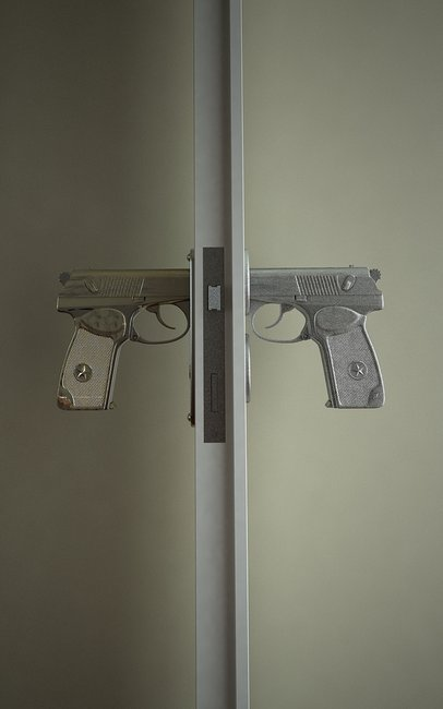 9mm pistol door handle